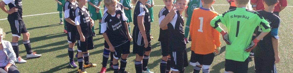 Bergener D- Junioren gewinnen auch ihr erstes Heimspiel